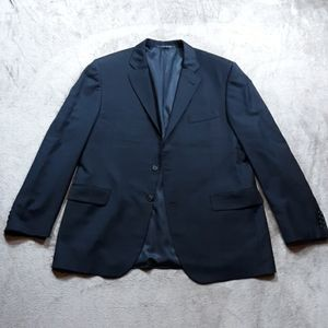 Burberry Men's Navy Blue Stripe Blazer 44R Bond St